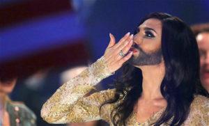 A transvestite weirdo enters Eurovision