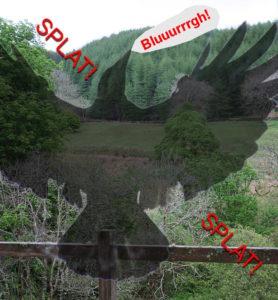 digitally enhanced Hooded Crow splat image