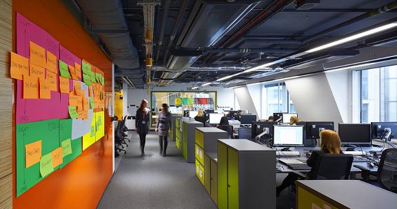 A photo of inactivity at BBC Grafton House